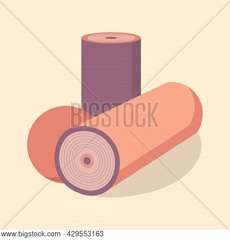 Foam Rolls And Fitness Ball For Myofascial Release Massage Therapy. Deep Tissue Massage. Workout And