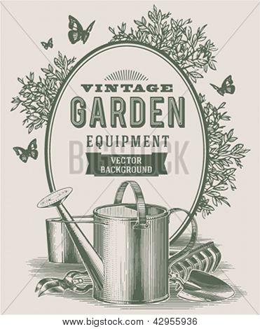Vintage garden background