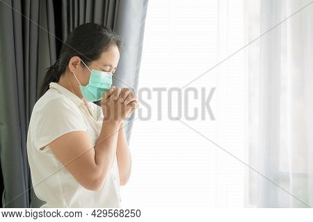 Religious Woman In Protective Face Mask