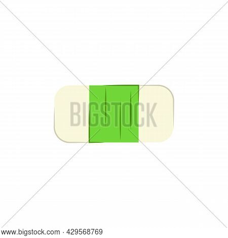 Eraser Isolated On White Background. Vector Flat Illustration. Subject Of Office Supplies, Education