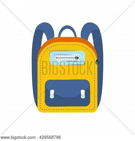 Hand Drawn Backpacks. Bags For School. Cartoon Of Casual Sports And Tourist Backpack. Schoolbag Deco