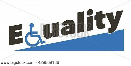 A Handicapped Icon Takes The Place Of The. Letter Q In This 3-d Illustation About Handicap Access.