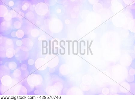 Lilac Blue Pink Background With Bokeh Effect, Blur And Gradient. Colorful Blurred Texture. Modern De
