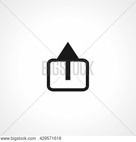 Export Simple Isolated Web Vector Icon On White Background.