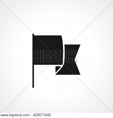Flaq Simple Isolated Web Vector Icon On White Background.