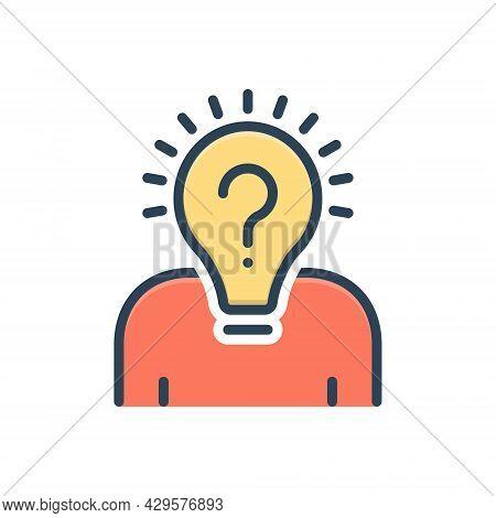 Color Illustration Icon For Originality Smart-ideas Smart Ideas Creative Innovation Invention Inspir