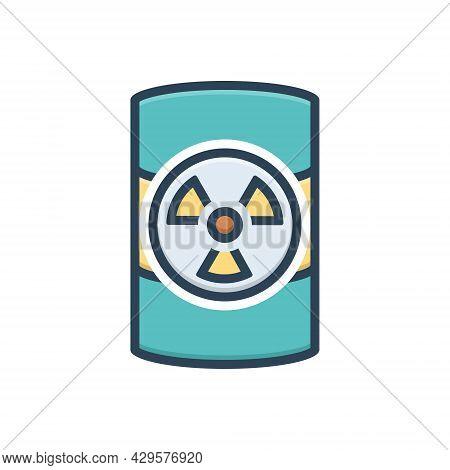 Color Illustration Icon For Hazardous-waste Hazardous Waste Dangerous Perilous Parlous Emergency