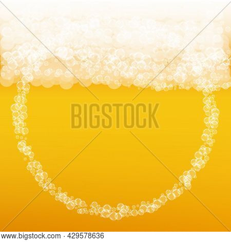 Oktoberfest Background. Beer Foam. Craft Lager Splash. German Pi