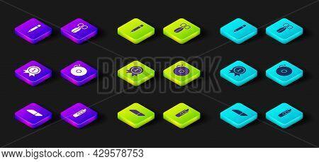 Set Eraser Or Rubber, Stationery Knife, Medal, Ringing Alarm Bell, Scissors And Pencil With Eraser I