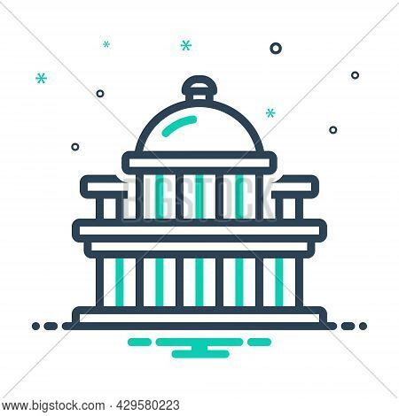 Mix Icon For Capital Metropolis Chief-town Megalopolis  Dominant Architecture Landmark States