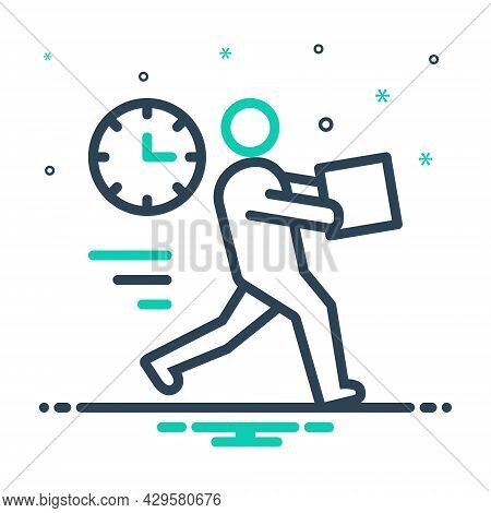 Mix Icon For Immediate Expedite Hasty Hurried Speedy Rapid Brisk Immediately Instantly Quick Forthwi