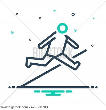 Mix Icon For Jump Leap Hop Spurt Prance Athletic Sports Bounce Obstacle-race Person Youth Playful