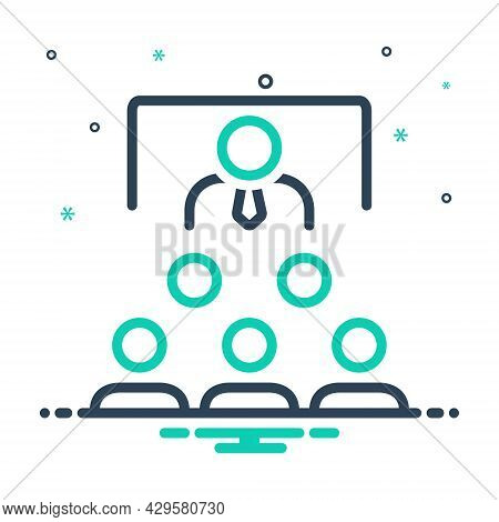 Mix Icon For Teaching Education Instruction Learning Guidance Tutoring Reading Lecture Presentation