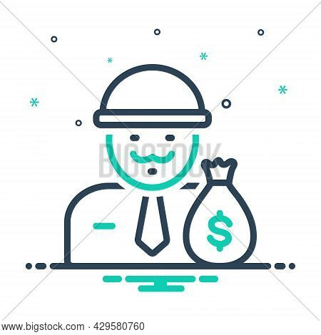 Mix Icon For Wealthy Rich Affluent Moneyed Thriving Opulent Propertied Well-off Well-heeled