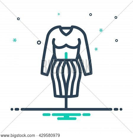 Mix Icon For Fashion Twig Vogue Style Trend Clothing Garment Dress Costume Accessories Girl