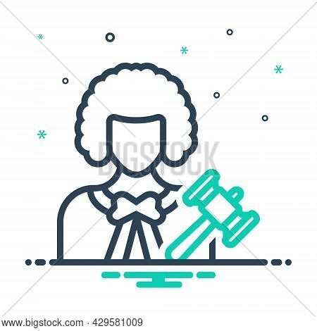 Mix Icon For Lawyer Jurist  Justiciary Judge Advocate Counselor Corporate Consultation