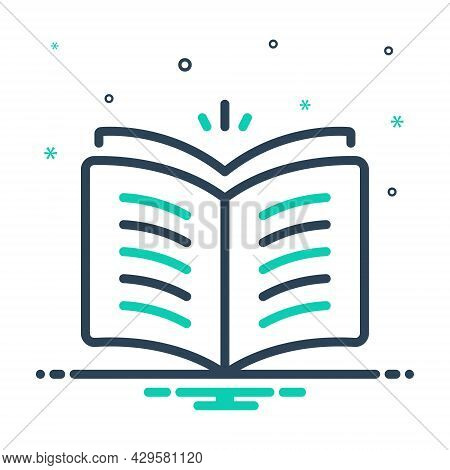Mix Icon For Open-book Open Book Knowledge Magazine Library Textbook Publication Encyclopedia Educat
