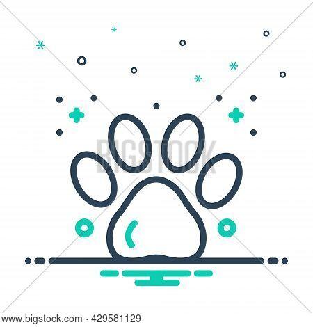 Mix Icon For Paw-print Paw Animal Print Foot-print Animal Mark Veterinarian Care Pet