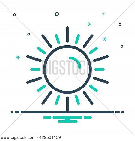 Mix Icon For Sun Phoebus Daystar Luminary Climate Light Heat Hot Nature Sunlight Sunshine