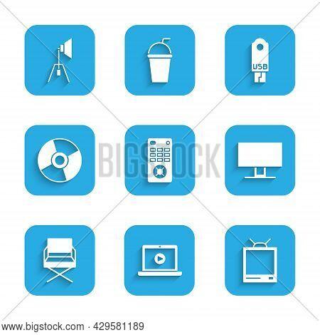 Set Remote Control, Online Play Video, Retro Tv, Smart Tv, Director Movie Chair, Cd Dvd Disk, Usb Fl