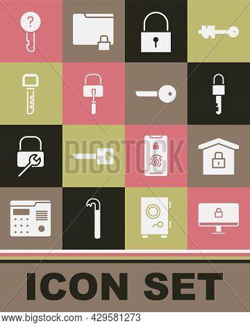 Set Lock On Computer Monitor, House Under Protection, Locked Key, Picks For Lock Picking, Key, Undef