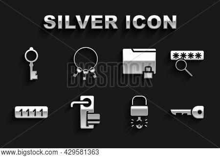 Set Digital Door Lock, Password Protection, Key, Broke Inside Of Padlock, Folder And, Old Key And Bu