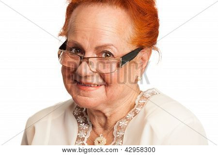 Kind Old Lady Smiling