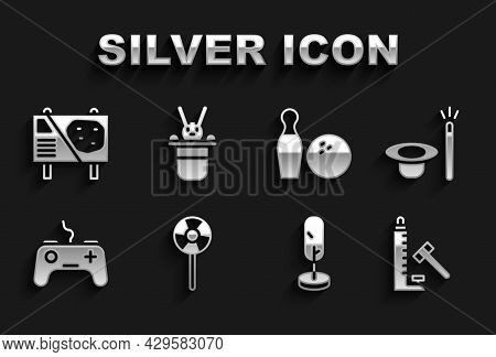 Set Lollipop, Magic Hat And Wand, Striker Attraction With Hammer, Tree, Gamepad, Bowling Pin Ball, A