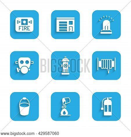 Set Fire Hydrant, Bucket Extinguishing Fire, Extinguisher, Hose Reel, Bucket, Gas Mask, Ringing Alar