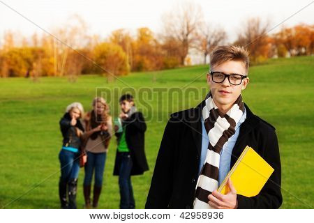 Smart Student With Friends