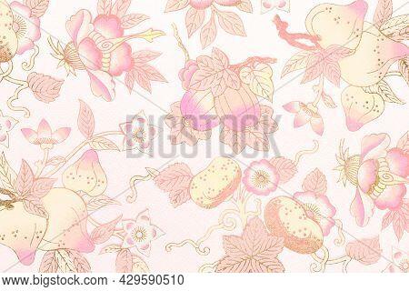 Pink floral patterned background design