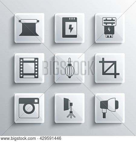 Set Softbox Light, Picture Crop Photo, Dust Blower, Photo Camera, Camera Roll Cartridge, Empty Studi