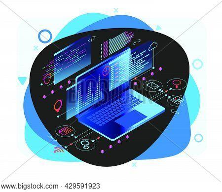 Programming Web Banner. Best Programming Languages. Technology Process Of Software Development