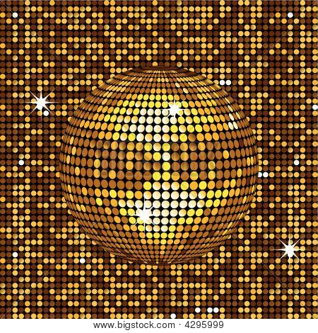 Gold Abstract Disco Background
