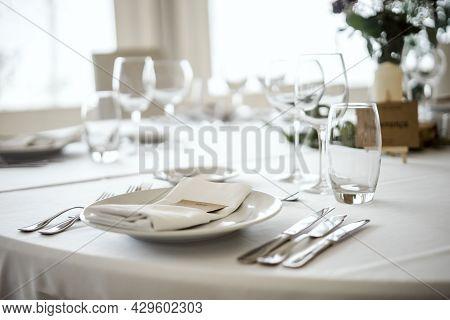 Table Setting In A Fancy Restaurant