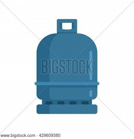 Gas Cylinder Compressed Icon. Flat Illustration Of Gas Cylinder Compressed Vector Icon Isolated On W