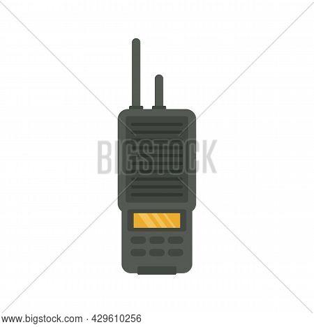 Walkie Talkie Portable Icon. Flat Illustration Of Walkie Talkie Portable Vector Icon Isolated On Whi