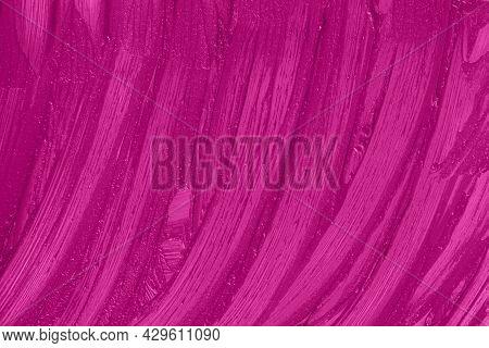 Liquid Lipstick Cosmetic. Purple Cosmetics Smear Pattern Background. Marsala Beauty Product Sample C