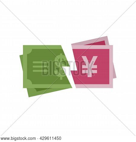 Trade War Finance Icon. Flat Illustration Of Trade War Finance Vector Icon Isolated On White Backgro