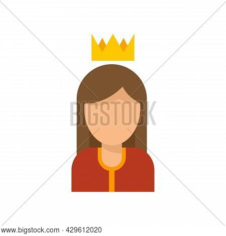 Queen Reputation Icon. Flat Illustration Of Queen Reputation Vector Icon Isolated On White Backgroun