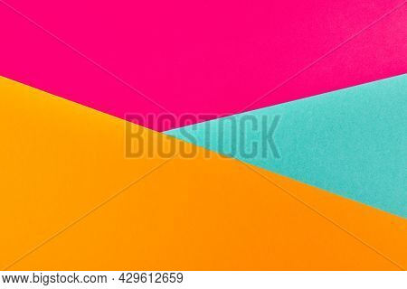 Multicolored Paper Background. Abstract Colorful Paper Texture, Copy Space. Bright Colors For Design