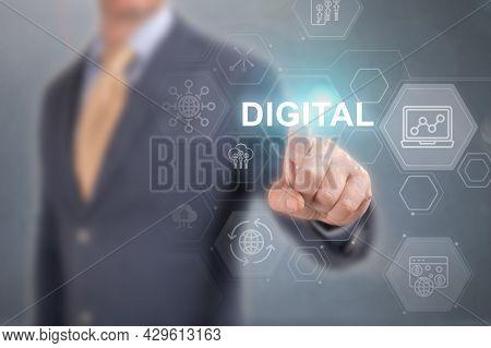 Digital Transformation Technology Strategy, Digitization And Digitalization Of Business Processes Da