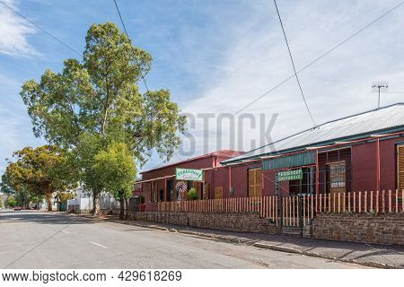 Richmond, South Africa - April 2, 2021: A Street Scene, With The Perdehoef Guest House, In Richmond