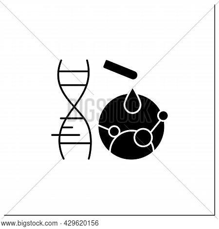 Mutation Gene Glyph Icon. Artificial Mutation Process. Adding New Materials To Dna. Gene Change. New
