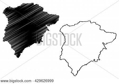 Rutland County (united Kingdom, Ceremonial County Of England) Map Vector Illustration, Scribble Sket
