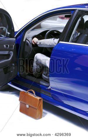 Businessman In Car