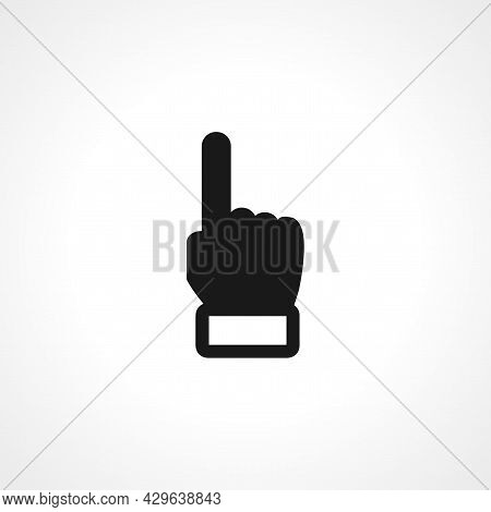 Forefinger Simple Isolated Web Vector Pointing Hand Icon.