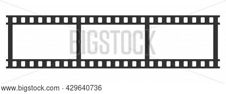Video Tape Photo, Film Strip Quality Frame Vector Illustration Cut Out Isolated On White Background.