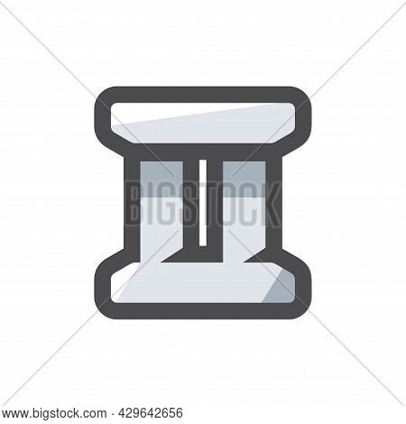 Concrete Bridges Pillars Vector Icon Cartoon Illustration