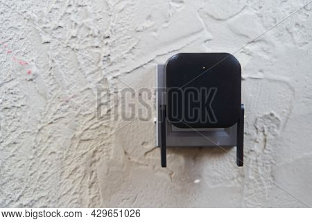 Black Wifi Signal Booster On White Background. Wifi Connection. Wifi Transmitter, Router.